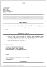 Fresher Accountant Resume Sample by Over 10000 Cv And Resume Samples With Free Download B Com