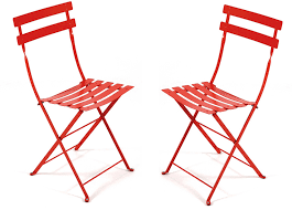 Folding Bistro Table And Chairs Set French Bistro Folding Chair Set Of 2 Fermob Horne