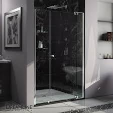 Clear Glass Shower Door by Allure Pivot Shower Door