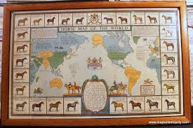 Rare Maps Collection Of The by Horse Map Of The World Sold Antique Maps And Charts