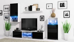 white tv stand with led lights decoration inimitable kitchen cart