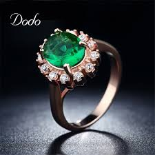 jewelry diamonds rings images Dodo romantic green stone charm sunflowers jewelry ring wedding jpg
