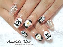 chanel monochrome manicure nail art and easy manicure tutorials