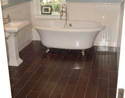 tiling a small bathroom floor with a creative accent stripe home