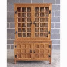 Oak Glazed Display Cabinet Pollard Adzed Yorkshire Oak Glazed Display Cabinet