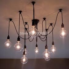 Chandelier With Edison Bulbs Mordern Nordic Retro Edison Bulb Light Chandelier Vintage Loft