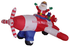 Blow Up Christmas Decorations Australia by Long Animated Christmas Blow Up Santa Claus Driving Airplane 8