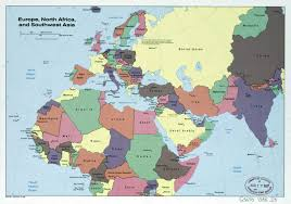 South Asia Political Map by Large Detailed Political Map Of Europe North Africa And Southwest