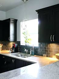 backsplash with dark cabinet kitchen modern kitchen ideas dark