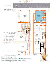 next gen floor plans townhouse 2 story landmark at doral casapropiamiami