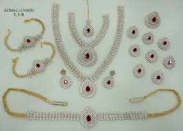 wedding earring necklace set images Adbrl2300ttr american diamond grand full bridal jewellery set buy JPG