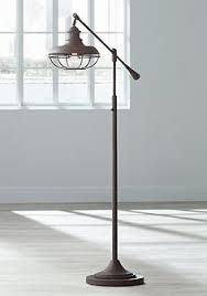 Addison Floor Lamp Industrial Floor Lamps Caged Edison Bulb Floor Lamp Designs