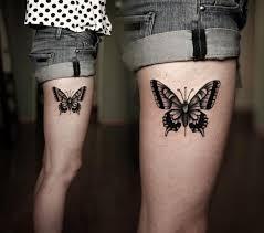 butterfly fair frog thigh design idea for