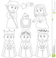 coloring christmas nativity royalty free stock photography image