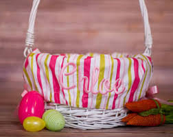 easter basket liners personalized personalized easter basket liner pink gingham easter basket