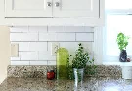 temporary kitchen backsplash kitchen wallpaper backsplash with a white subway tile temporary
