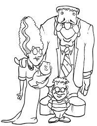 frankenstein family coloring page download u0026 print online