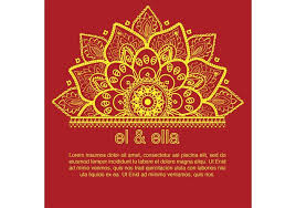 indian wedding card designs indian wedding card template free vector stock