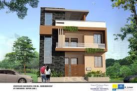 Modern North Indian Style villa design 1022—682