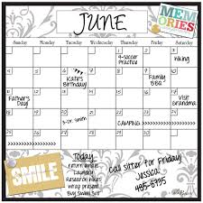 Monthly Calendar Decal Dry Erase Calendars