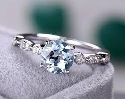 art deco svan ring holder images Aquamarine engagement ring etsy jpg