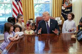 trump greets kids in oval office for early halloween treats news