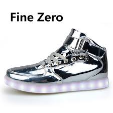 light up shoes gold high top 2017 gold silver red high top light up shoes mens shoes led usb