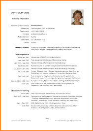Sample Curriculum Vitae Template Download by 7 Curriculum Vitae Template Pdf Mail Clerked