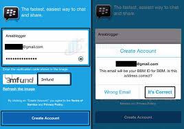 membuat akun gmail bbm daftar bbm di ponsel android tanpa nomor hp lengkap