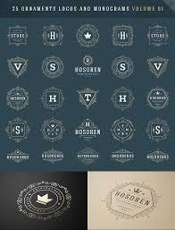 25 ornaments logotypes and monograms logo templates creative