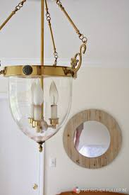 Painting Brass Chandelier How To Transform A Dated Brass Light Fixture With Paint