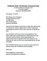 Thank You Letter Veterans thank you letter from mckinney george schlotterbeck sedona