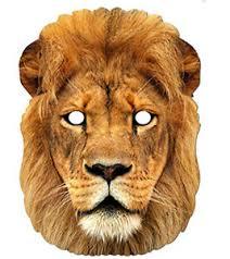 lion mask lion animal 2d card party mask fancy dress up safari zoo