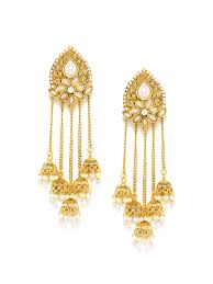 gold earrings online buy sukkhi gold plated beaded drop earrings earrings for