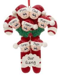 personalized family ornament with 5 names warm mitten mittens