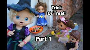 call halloween city baby alive halloween trick or treat part 1 baby alive sara the