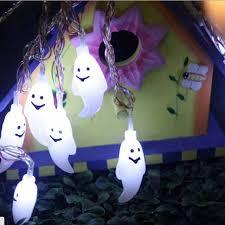 halloween ghost string lights 20 led bulbs halloween ghost string lights l battery powered