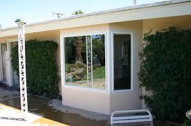 enjoy palm desert bay window addition custom beanch seating