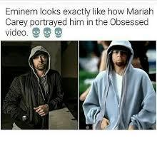 Mariah Meme - eminem looks exactly like how mariah carey portrayed him in the