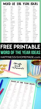word of the year ideas one word happiness is
