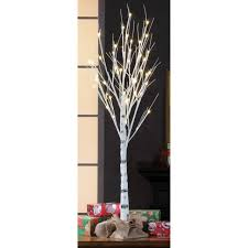 artificial birch trees with lights 4ft birch stick artificial christmas decoration tree holiday time