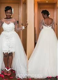 knee length wedding dress ericdress lace sleeves hi lo knee length wedding dress with