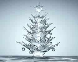 unique christmas unique christmas tree made completely of water by israel adedipe