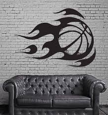wall sticker vinyl decal mural sport basketball fire ball z312 wall sticker vinyl decal mural sport basketball fire ball z312