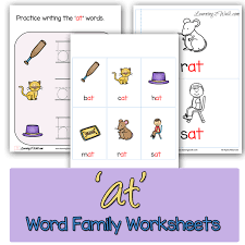 at u0027 word family worksheets the homeschool village