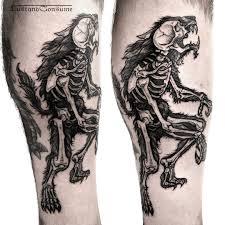 werewolf x ray tattoo best tattoo ideas gallery