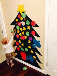 felt christmas tree tips 1 command hooks and velcro work well