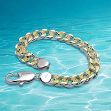 gold plated sterling silver bracelet images Latest new 925 sterling silver jewelry bracelet men genuine solid jpg