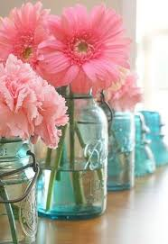 how to make blue mason jar gender reveal centerpieces for under