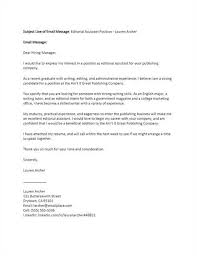 Subject Line For Resume Email Editorial Assistant Cover Letter Aaaaeroincus Nice Resume Sample